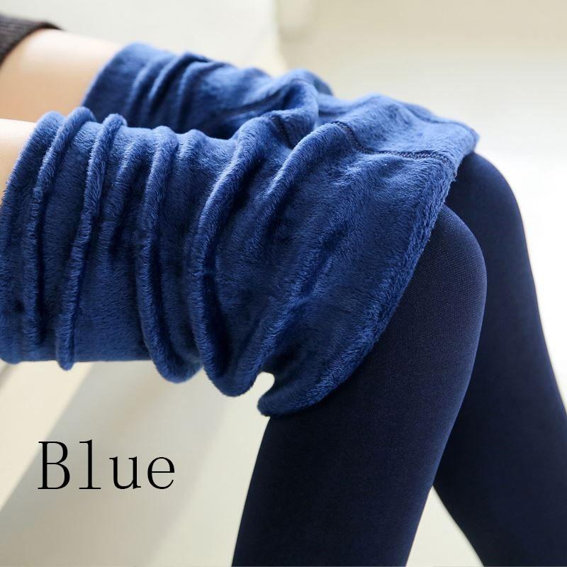 Новые модные женские осенне-зимние штаны высокого эластичности и хорошего качества, плотные бархатные штаны, новые теплые леггинсы Rooftrellen - Цвет: 88 navy blue