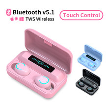 Bluetooth Headphones v5.1 Earphone Bluetooth Wireless Headset TWS Earbuds Airdots 9D Stereo Waterproof with Charging Box