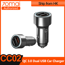 70mai QC 3.0 Quick Car Charger Metal Case Mini 2USB Port For Mobile Phone Dual USB car charger fast charging Adapter Charger
