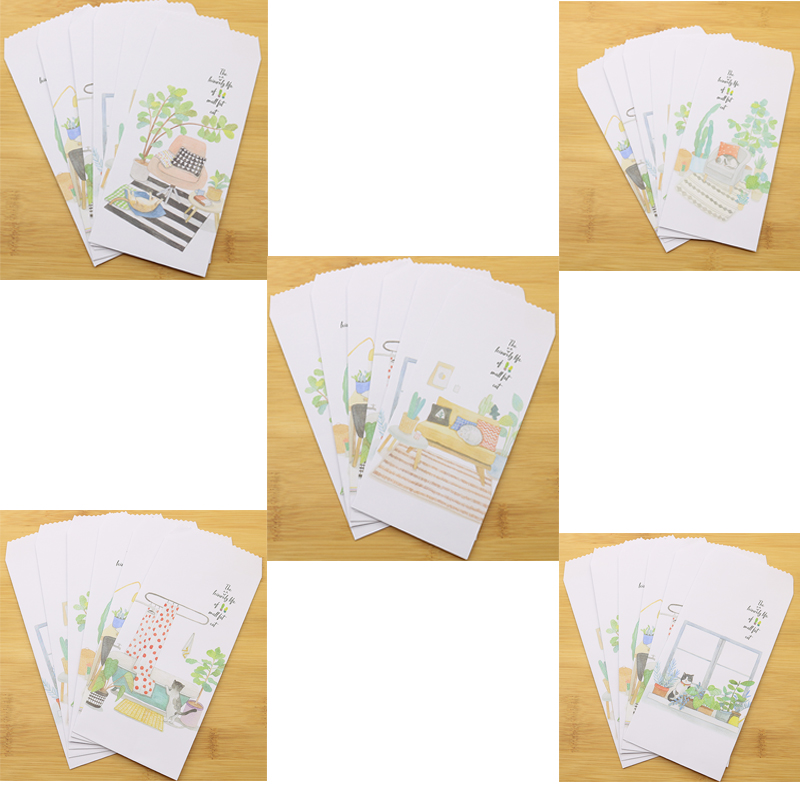 6 Pieces / Set Of Cat Envelopes Cute Animal Gifts Crafts Wedding Invitation Envelope Children Students Holiday Gift