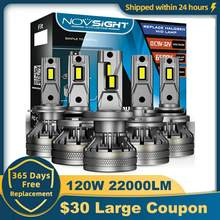 NOVSIGHT H7 Led 120W 20000LM Auto Scheinwerfer Lampen 9005 9006 H1 H13 9004 9007 H4 H11 H8 H9 Led decoder Auto Scheinwerfer Nebel Lichter
