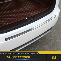 For Lexus RX200t RX450h 2016 2019 Car Styling Rear Trunk Bumper Fender Pad Protector Sill Sticker Chrome Accessories