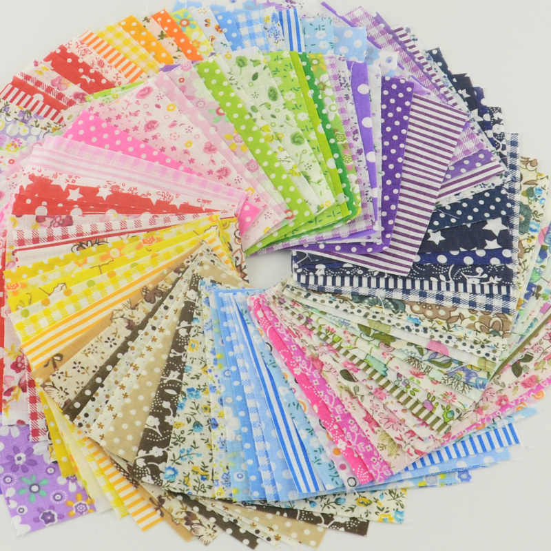 Lote de 120 unidades de 5cm x 5cm, tela de algodón 100%, sarga para costura de parches DIY, Mini Paquete de 30 diseños de Telas de Au Metre
