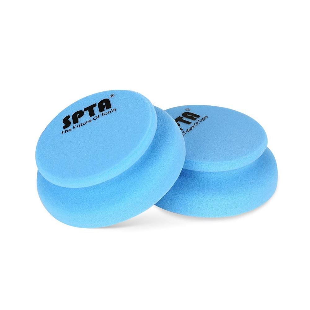 SPTA 10Pcs Hand Waxing Sponge 100 X 120mm Rubbing Compound Applicator Car Beauty Waxing Pad Auto Paint Care Polishing Sponge Pad