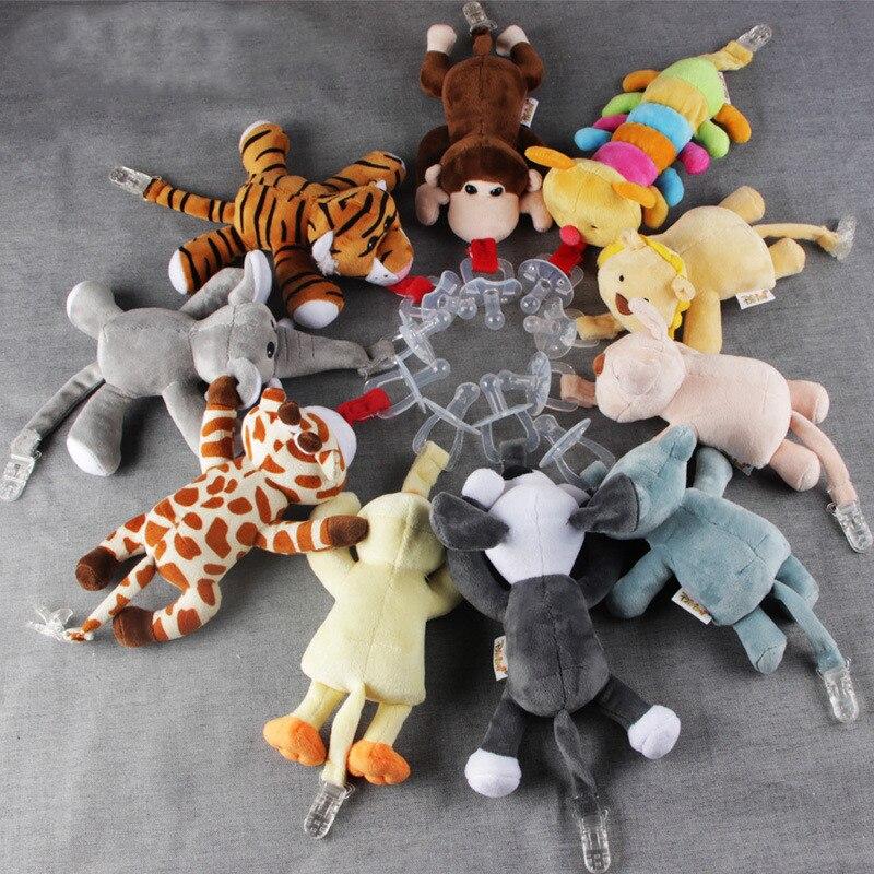 Держатель для детской соски, висящий съемный плюшевый животное, единорог, кролик, кукла, поводки и чехлы, держатель для соски и
