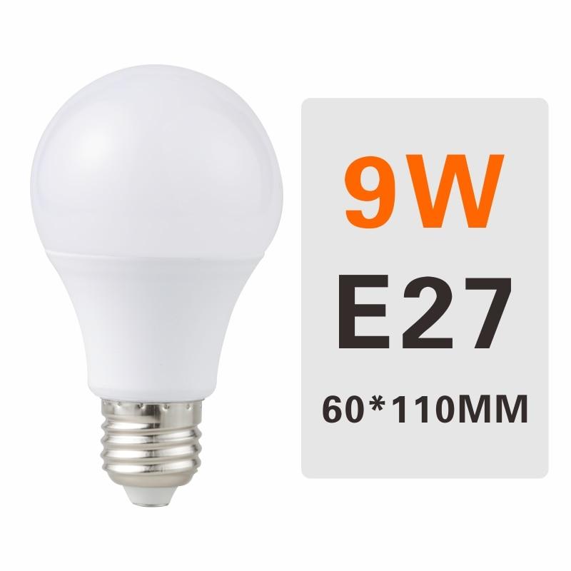 E27 E14 LED Bulb Lamps 3W 6W 9W 12W 15W 18W 20W Lampada Ampoule Bombilla LED Light Bulb AC 220V 230V 240V Cold/Warm White - Испускаемый цвет: 9W E27