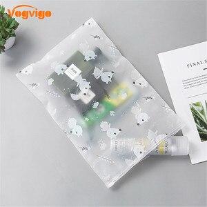 Image 4 - VOGVIGO PEVA Cartoon Mouse Transparent Cosmetic Bag Animal Travel Makeup Case Zipper Organizer Storage Pouch Toiletry Wash Kit