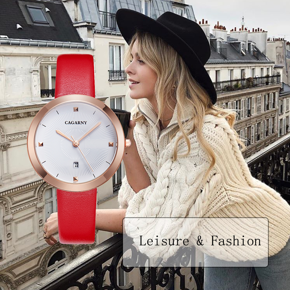 simple style ladies watches hot fashion women quartz watch female clock vogue leather strap rose gold case waterproof relogio feminino часы женские reloj mujer montre homme 2019 2020