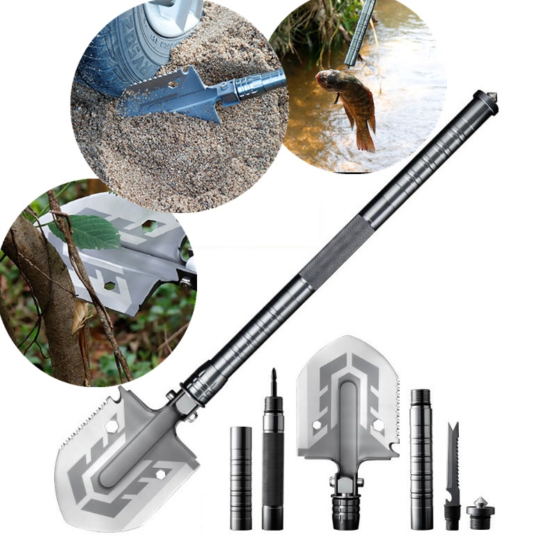 Cross Country Multi-purpose Shovel Garden Tools Outdoor Folding Military Shovel Camping Defense Security Tools