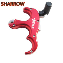 1pc Automatic Archery Bow Release Aids Thumb Caliper Trigger 3 Finger Finger Grip For Compound Bow Hunting Shooting Accessories pro automatic archery bow release aids 3 or 4 finger thumb caliper trigger grip for compound bow hunting shooting accessories