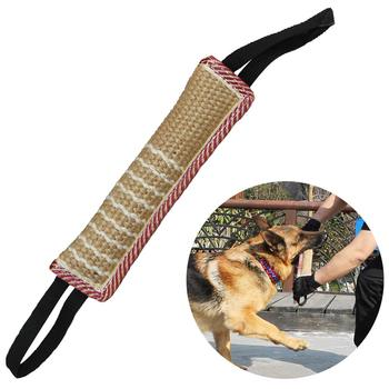Dog Tug Toy Dog Bite Pillow Jute Bite Toy with 2 Handles Best for Tug of War Puppy Training Interactive Play Interactive Toys classroom whiteboard interactive education system with best quality from china best provider oway