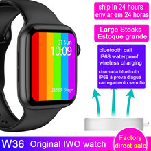Nouveau W36 montre 6 séries hommes femmes 44 40mm SmartWatch Bluetooth appel IP68 étanche sans fil charge montre intelligente VS W46 W26