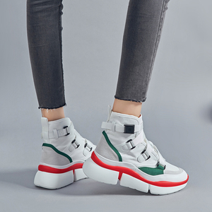 Image 5 - Lucyever femmes mode bottines 2019 automne hiver confortable travail chaussures femme chaussures plates plate forme chaussures baskets hautes