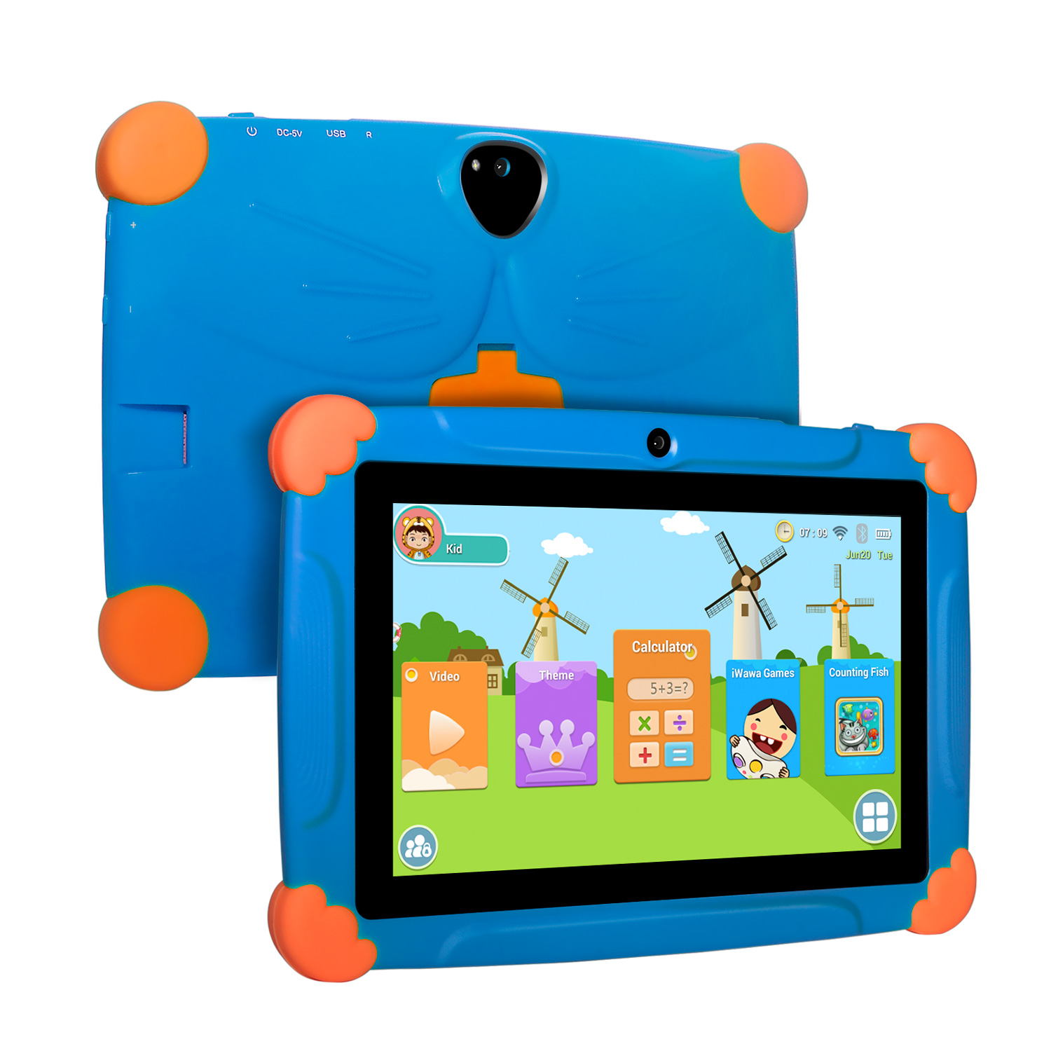 XGODY T703 Children's Gift Tablet 7 Inch  Screen Android 8.10 Version Fashion Portable Tablet 1G+16G Touch Tablet