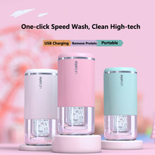 Contact Lens Washer Cute Cartoon Contact Lenses Cleaning Tools Solid Portable Contact Lens Cleaner Ultrasonic Automatic Cleaner cheap Unisex 41mm ROUND 155g 87mm
