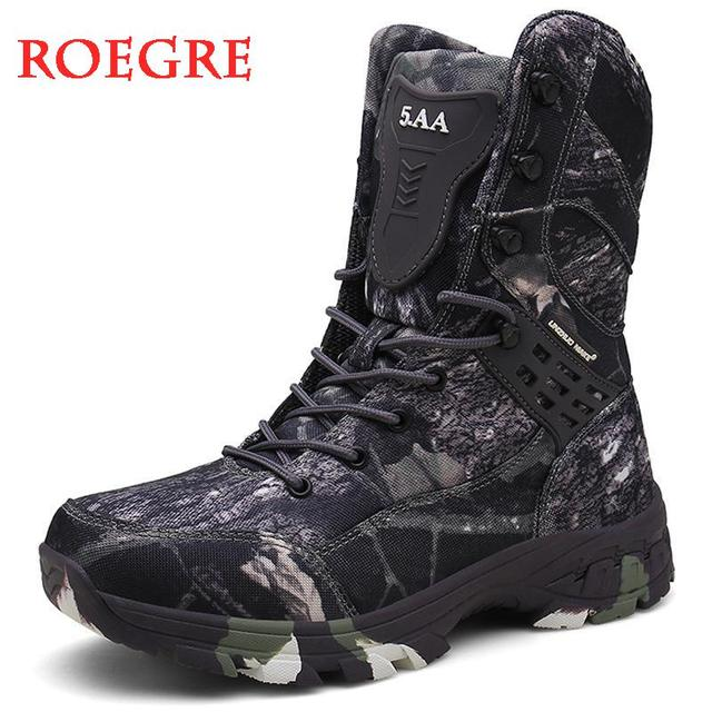 New Waterproof Men Tactical Military Boots Desert Boots Hiking Camouflage High-top Desert Men's Boots Fashion Work Men's shoes 1