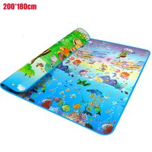 купить 2*1.8m Baby Crawling Mat Sided Pattern Animal ocean Baby Play Mat Baby Carpet Soft Floor Kids Baby Playmat Outdoor Carpet Child по цене 1145.01 рублей