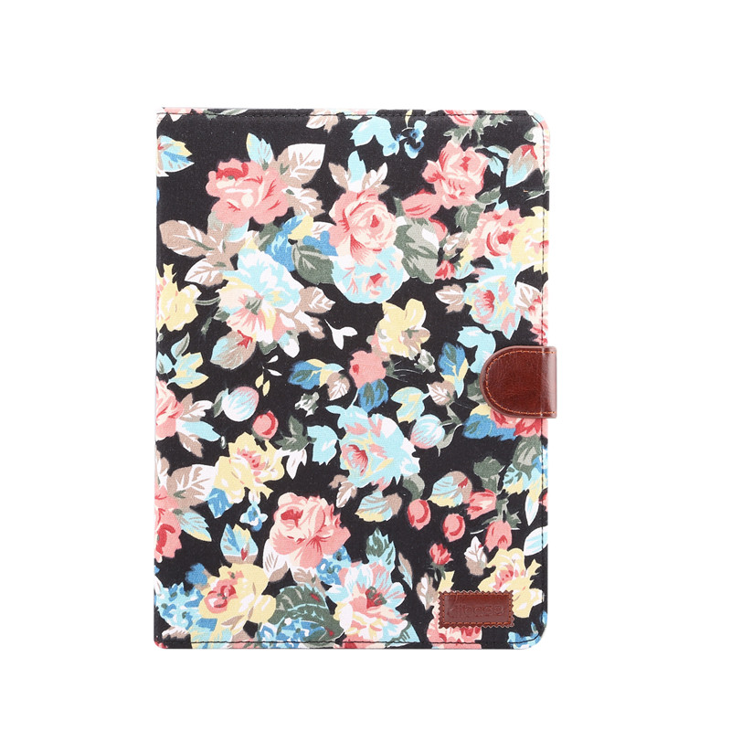 black Blue For iPad 10 2 2019 Smart Flowers Painted Case For Apple iPad 7th Generation A2200 A2198