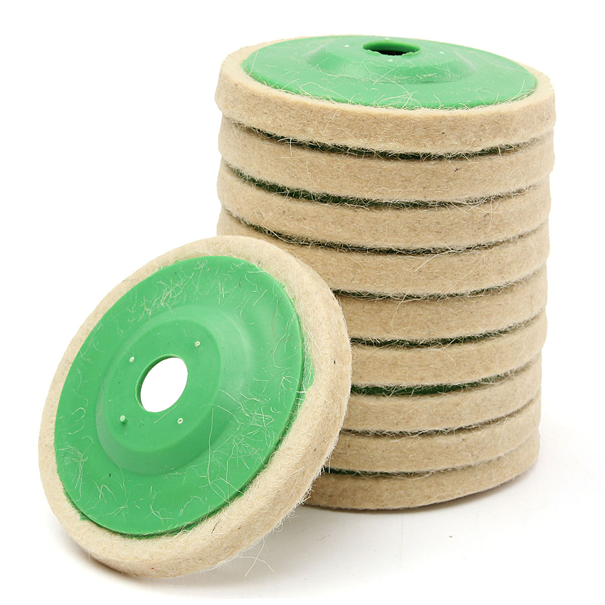 10pcs Wool Polishing Wheel Buffing Pads Angle Grinder Wheel Felt Polishing Disc For Metal Marble Glass Ceramics 4 Inch 100mm