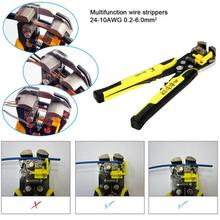 Wire Crimpers Engineering Ratchet Terminal Crimping Pliers Tool 0.14-1.5mm² Can Adjust Crimping Strength Ratchet Crimping Tool