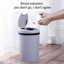 Smart Trash Can Plastic Automatic Basket with Odor-Absorbing Filter Wide Opening Sensor Kitchen Bin DNJ998