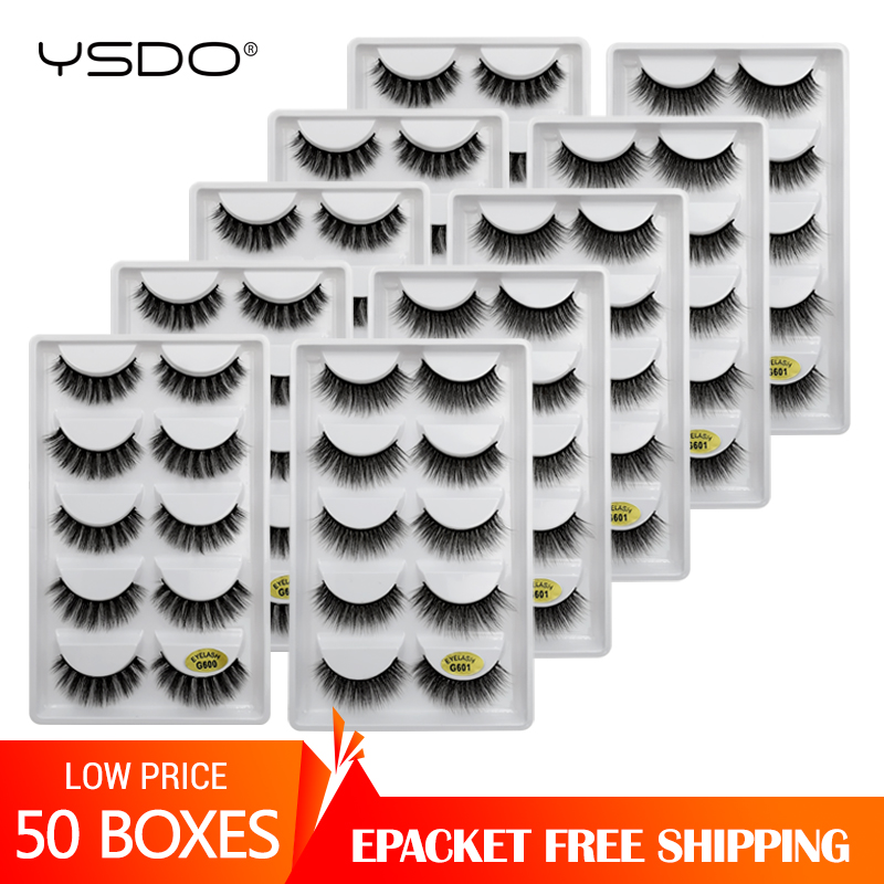 Eyelashes Wholesale 10/20/30/50 Boxes Faux Mink Eyelashes Natural 3d Mink Lashes Makeup Volume False Eyelashes In Bulk Cilios G6