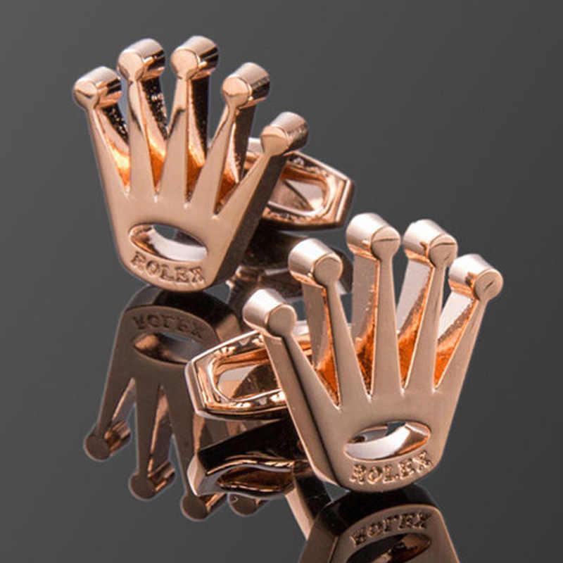 フレンチシャツカフス銅クラウンスタイリングメンズハイグレードビジネスパーティー金属カフスリンククラシック人格ユニセックスギフト