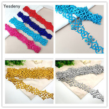 4 Meter/Lot Cos Costume Embroidery Lace Trim Gold Silver  Stage Performance Clothes Diy Applique Patch Fabric AccessoriesYN119