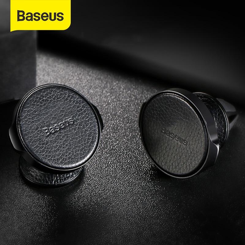 Baseus Magnetic Car Holder For Mobile Phone Air Vent Mount Holder For IPhone Samsung PU Leather Car Phone Holder Stand Bracket