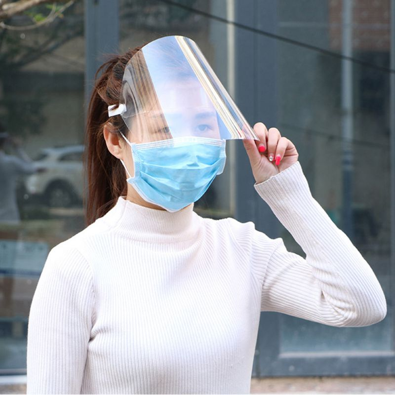 Spring Protective Cover Transparent Mask Protective Face Shield Transparent PVC Anti-fog Saliva And Germ Protection