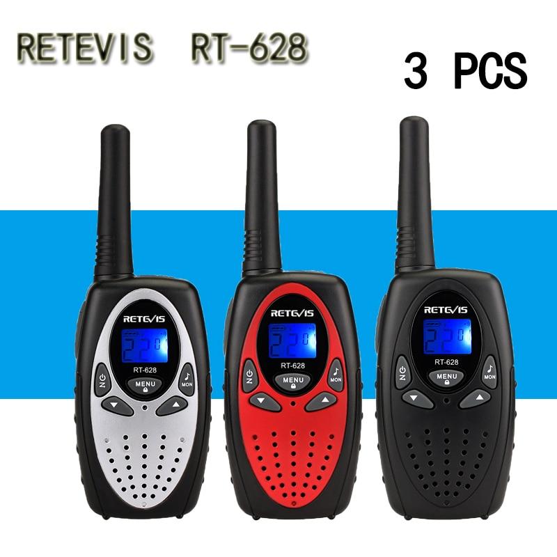 3pcs RETEVIS Mini Walkie Talkie Kids Radio 0.5W UHF Frequency Portable Radio Station Handheld Radio Gift  Portable Communicator
