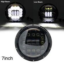 """7 """"180W LED far 6D araba Led sürüş işıkları merhaba/Lo işın DRL beyaz Amber 12V led Jeep Wrangler Hummer Lada Niva"""