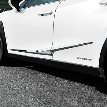 цена на ACCESSORIES Fit For Lexus UX 200 250H 2019 2020 CHROME ABS DOOR SIDE LINE GARNISH BODY MOLDING COVER PROTECTOR TRIM
