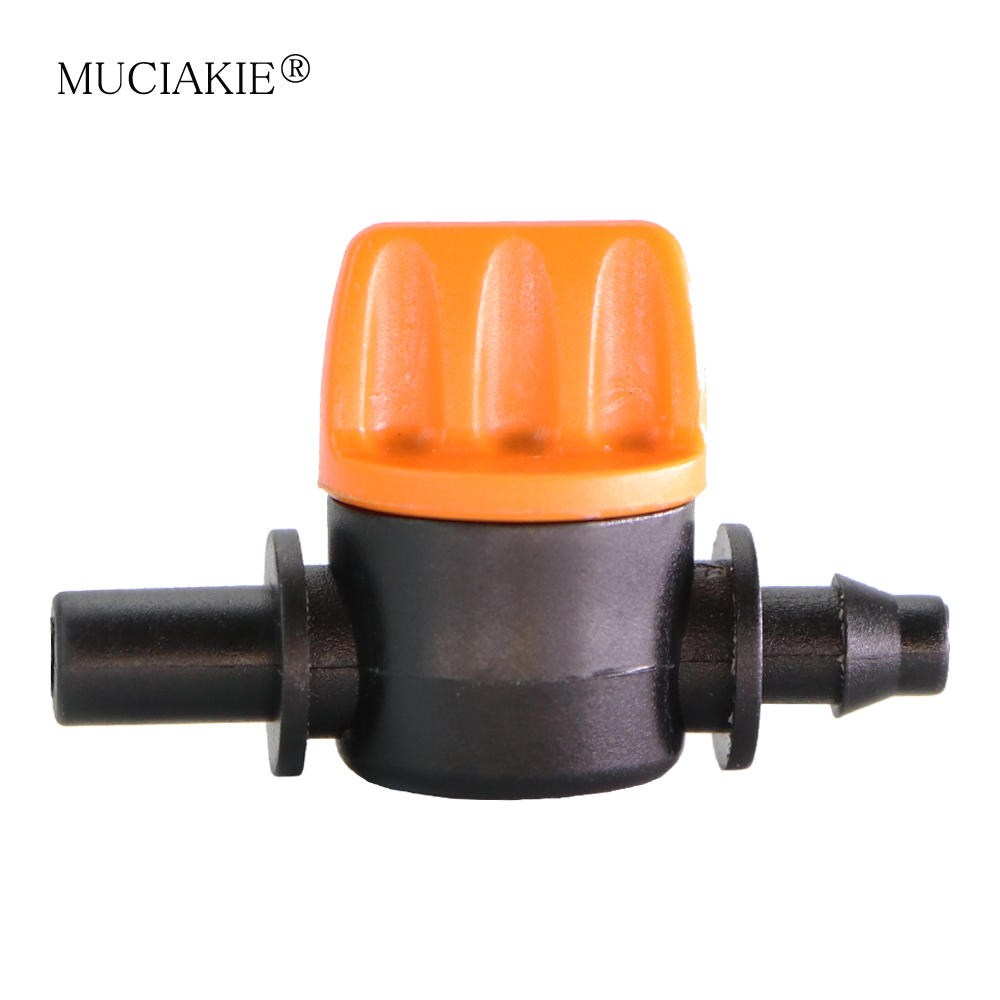 50X Black Irrigation Pipe Cross Straight Connector For Greenhouse 4//7 mm Hose