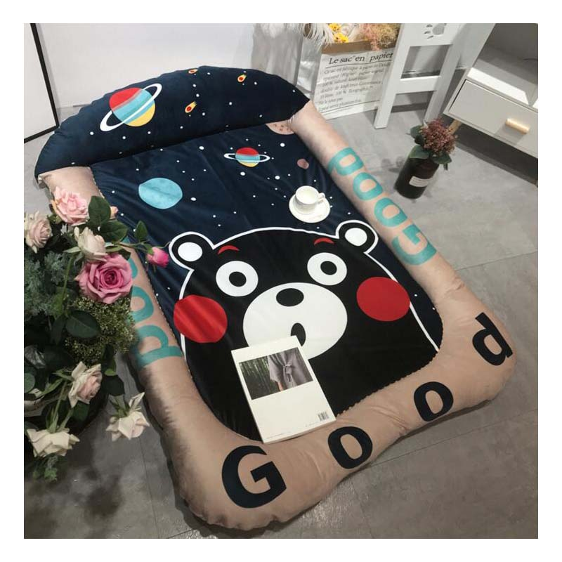 Baby Velvet Baby Crawling Mat Thick Cartoon Big Pillow Mat Soft Mattress Shatter-Resistant Game Mat Removable And Washable