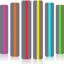 6 pcs Guided Reading Strips Highlight Strips Colored Overlay Highlight Bookmarks Help with Dyslexia for Crystal Children