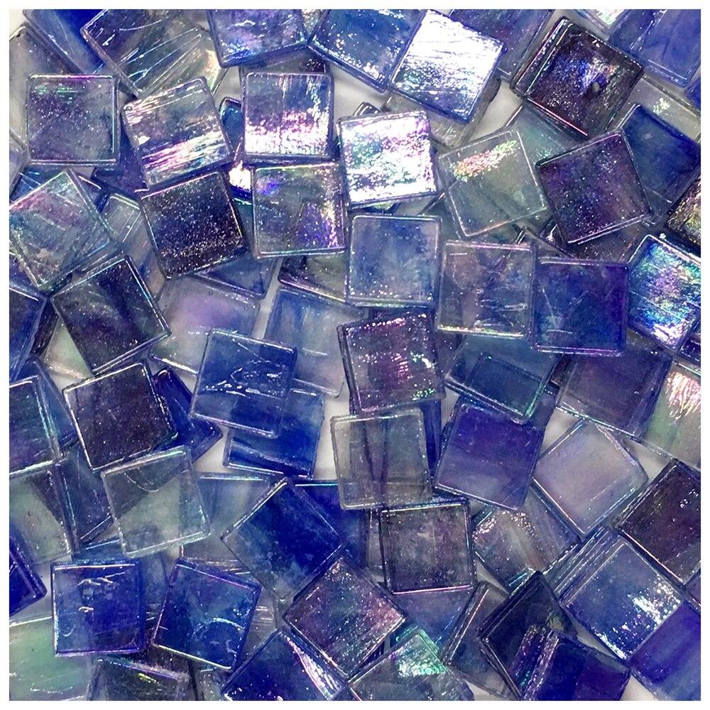 Lichi vida 50 Uds mosaico de vidrio Multicolor azulejo cuadrado mosaico de cerámica azulejos DIY artesanía Material de fabricación 3D rompecabezas de espuma segura modelo de construcción de la arquitectura Diy casa Diy Rosa encantadora casa de la muchacha MUEBLES CAMA juguetes para niños