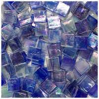 Lychee Life 50pcs Multicolor Glass Mosaic Tile Square Ceramic Mosaic Tiles DIY Arts Crafts Making Material