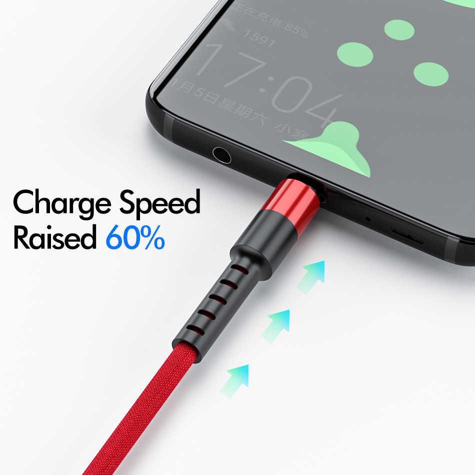 روك المصغّر USB كابل علامة هواوي شاومي Redmi شحن سريع شاحن هاتف محمول يعمل بنظام تشغيل أندرويد USB كابل شحن مايكرو شاحن كابل بيانات