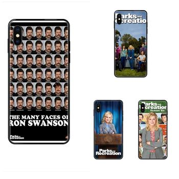 Soft TPU Black Quinn Phone Tv Show Parks And Recreation Poster For Galaxy S5 S6 S7 S8 S9 S10 S10e S20 edge Lite Plus Ultra image