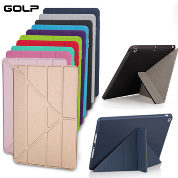 Case Cover for iPad 9.7 2017 , GOLP Silicone Magnetic Smart Cover Soft TPU Back Protective Case for iPad 2018 cover A1822 A1823 cover cover co169 01