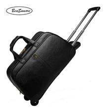 BeaSumore 高 グレード 100% 本革トラベルバッグ男性ビジネスローリング荷物トロリー 20 インチキャリーにスーツケースホイール