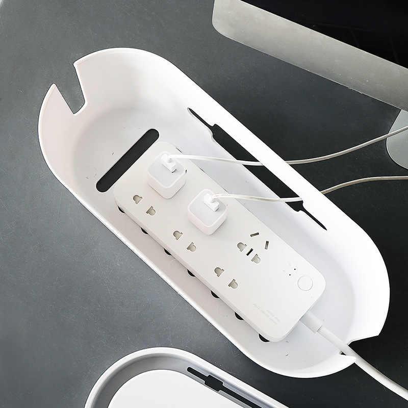 גדול אספקת חשמל תיבת אחסון שקע חוט ארגון תיבת מחשב שולחני כבל לשקע תיבת רצועות חוט תיבת אחסון