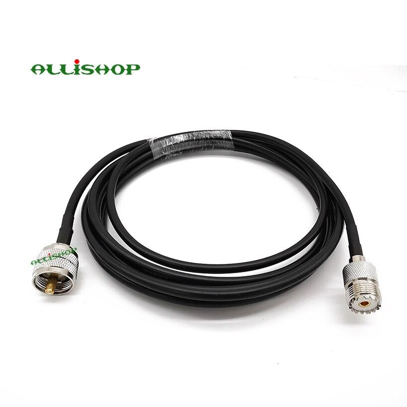 Кабель-удлинитель UHF для UHF SO-239 Jack LMR200, антенна для двухсторонней радиосвязи CB, VHF, радио