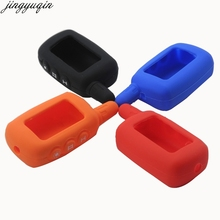 15p 3 Buttons Car-Styling Key Holder Case Cover Fob For Starline A9 A8 A6 Lcd Silicone Chain Russian Two Way Alarm