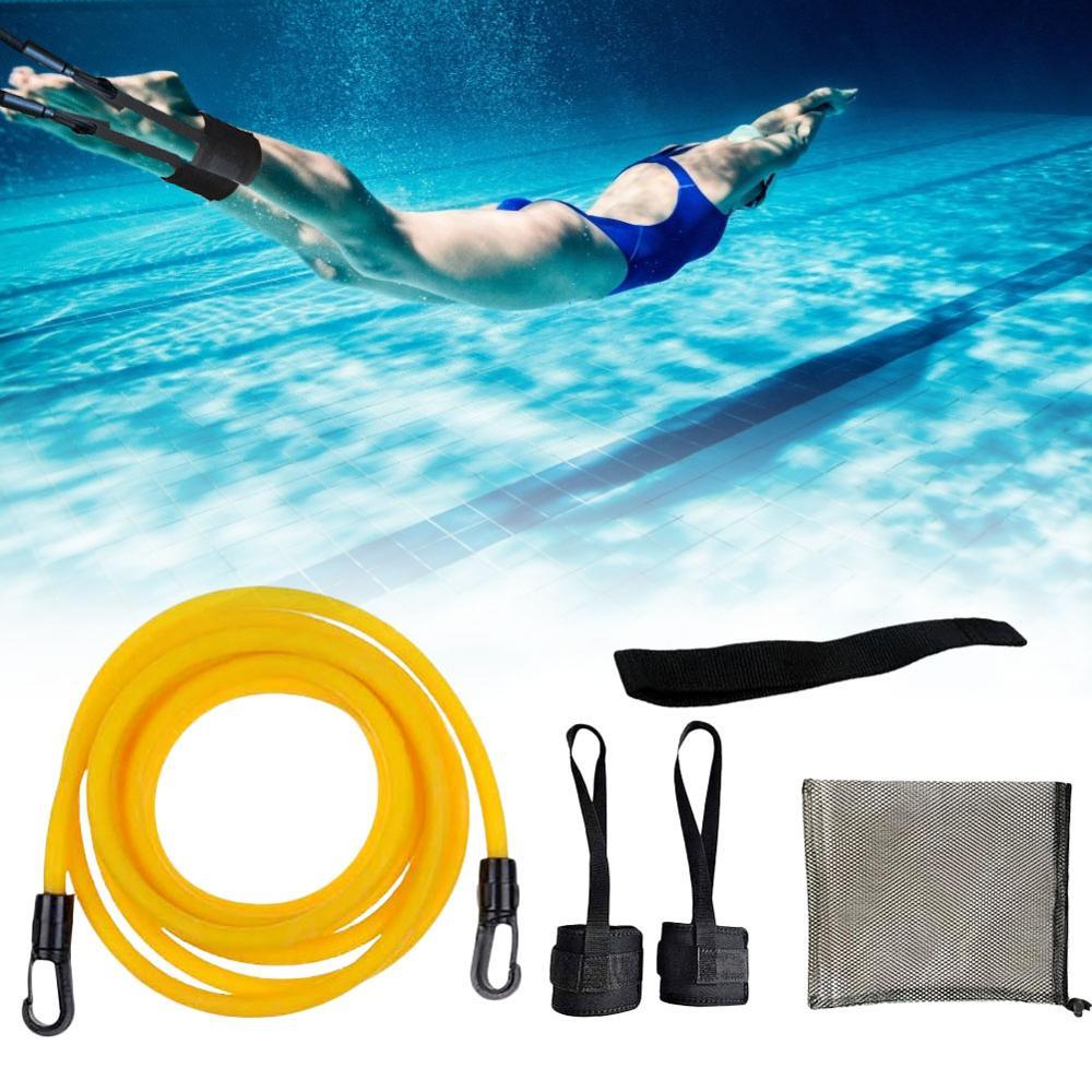 Регулируемый тренировочный эластичный пояс для плавания тренировочный тренажер безопасная веревка латексные трубки различные характерис...