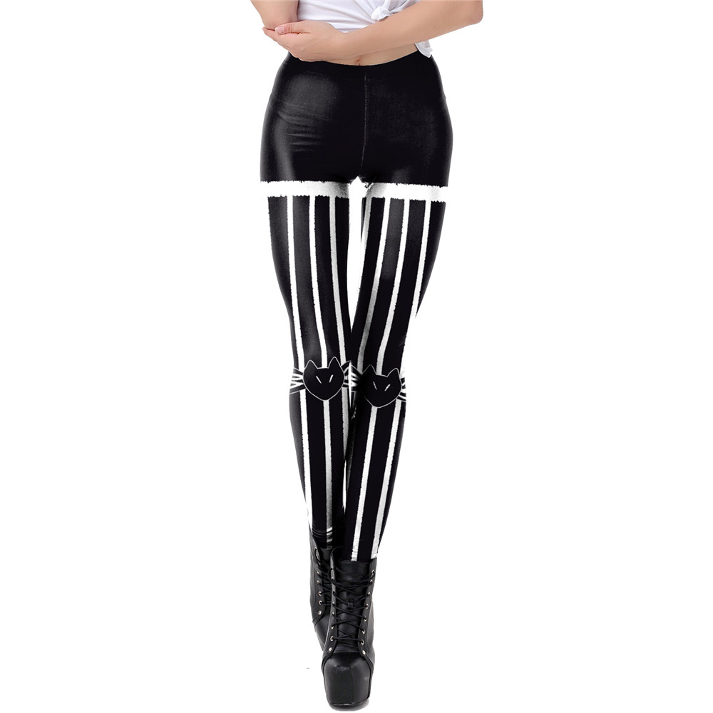 NADANBAO The Nightmare Before Christmas Leggings Halloween Classic Pants Women Workout Leggins Fashion Sexy Elastic Legins 11