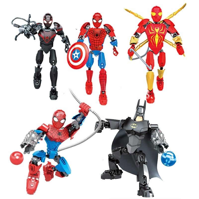 Marvel Avengers Infinity War DC Super hero Spiderman Batman building blocks Action Movie Figures toys