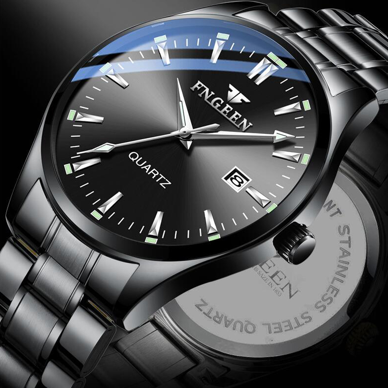 Man watch 2019 brand luxury watch men quartz watch student stainless steel luminous waterproof wristwatch mens relogio masculino