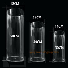 Party Centerpieces Plinth-Stand Acrylic-Cylinder Wedding-Table Clear for Senyu1313 3pcs/Set